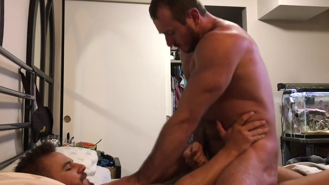 Guy riding his boyfriends dick then jerks him off till he cums