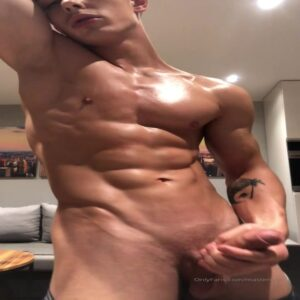 Mastercum Flexing and jerking cock