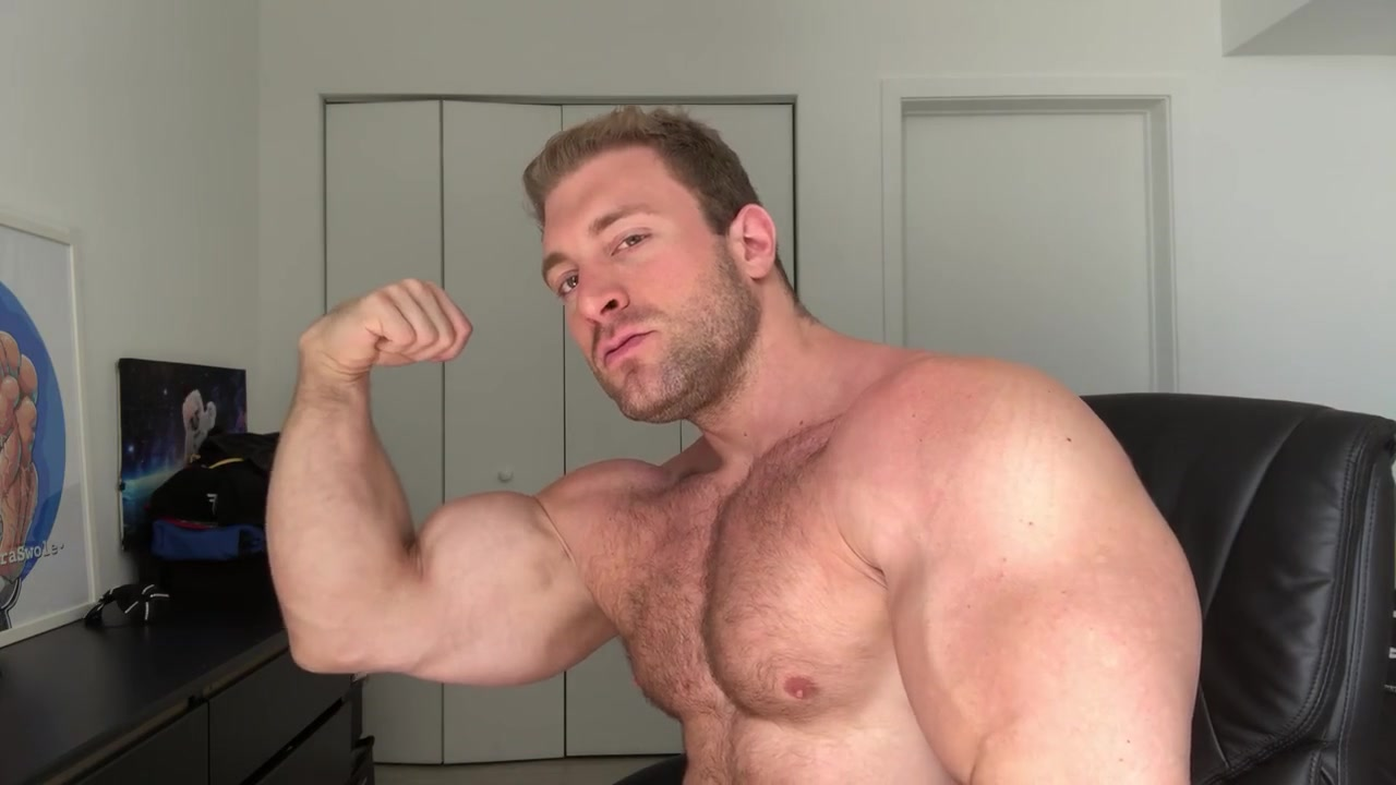 Straight Alpha Bodybuilder Verbal Muscle Worship and Ass Play