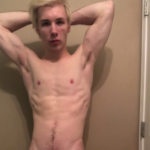 Hot young guy showing off his body then jerking off and cumming