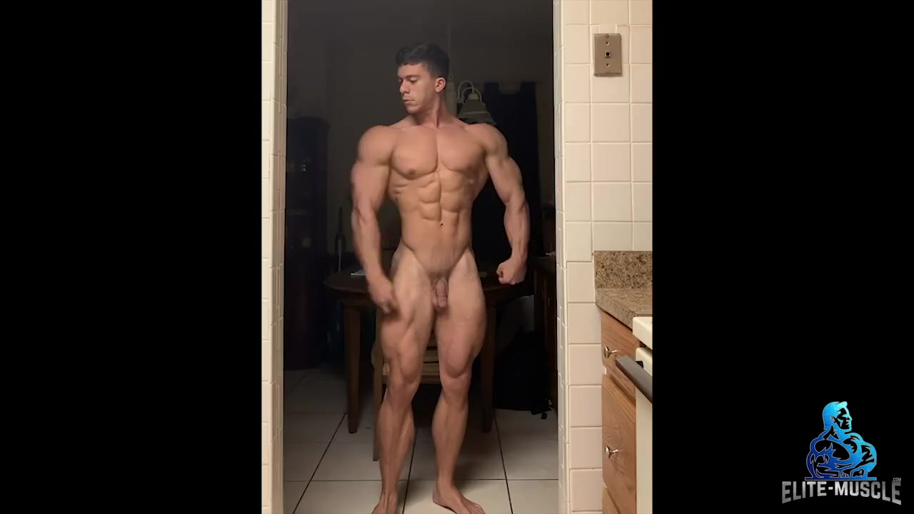 Phillip the Muscle hunk posing naked
