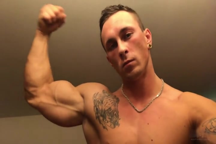 TJ Ink flexing and showing off his body