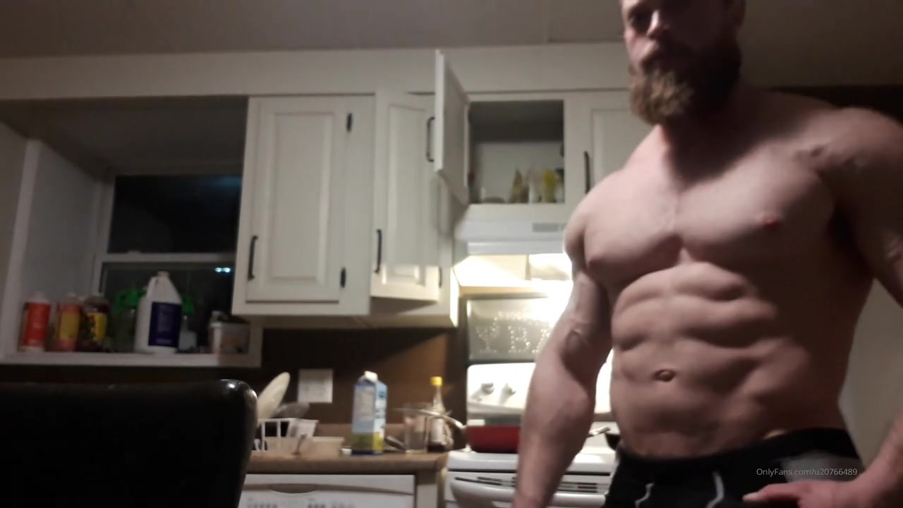 Showing off my body and cock while cooking dinner