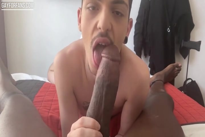 Alex Roman getting his hole wrecked by a big black cock