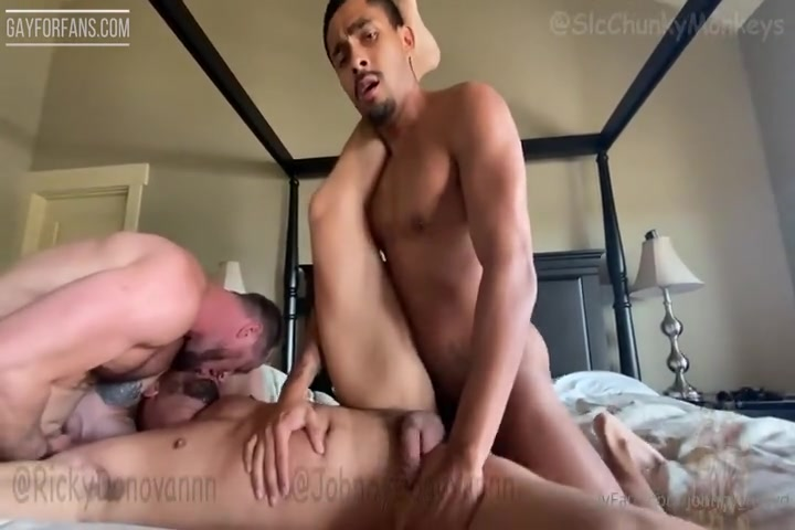 Josh getting 3 loads in him - SLCChunkyMonkeys, Johnny & Ricky Donovan (Johnny_RickyD)