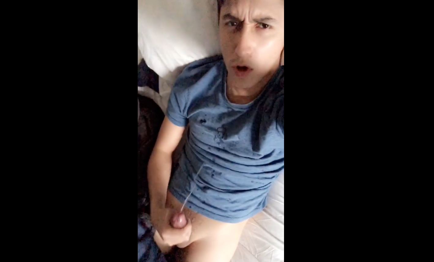 Diego shooting a big load over himself - Diegoleverkusen
