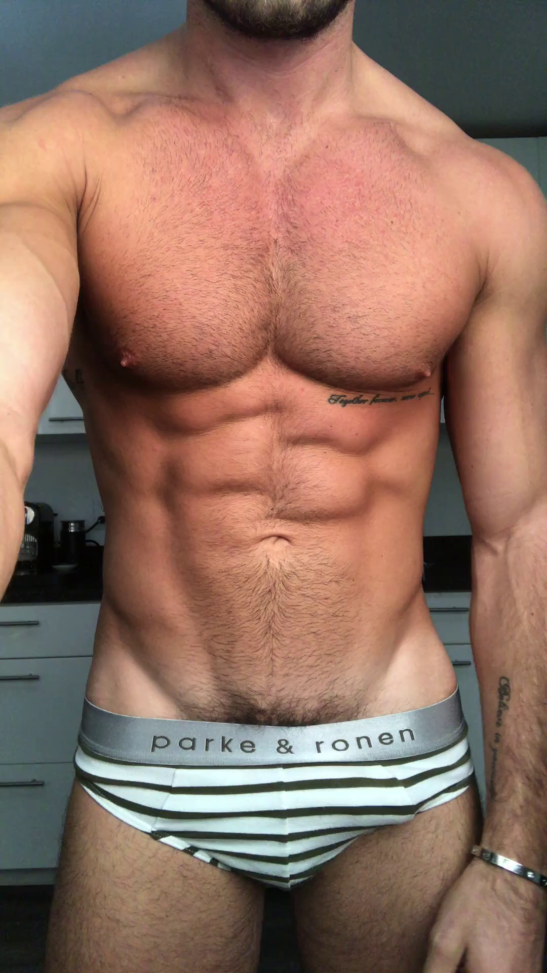 Anthony Pecoraro showing off his body and teasing his cock