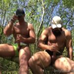 Jerking off with a friend in bushland - Rossilino
