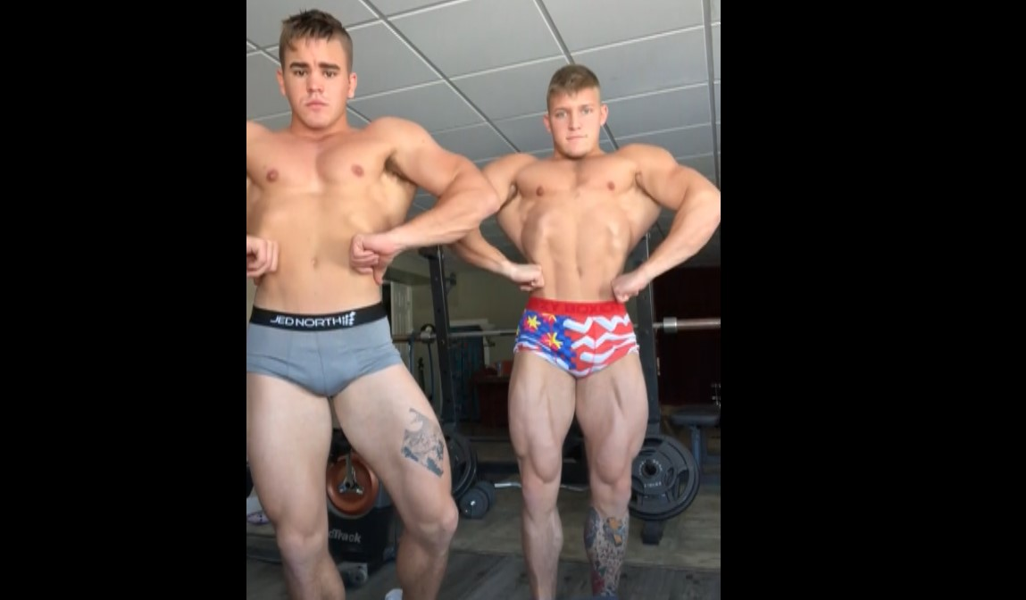 Flexing With A Mate - Bigmusclegod8