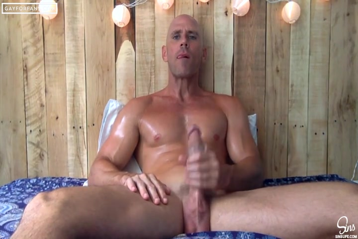 Johnny Sins jerking off with a sex toy