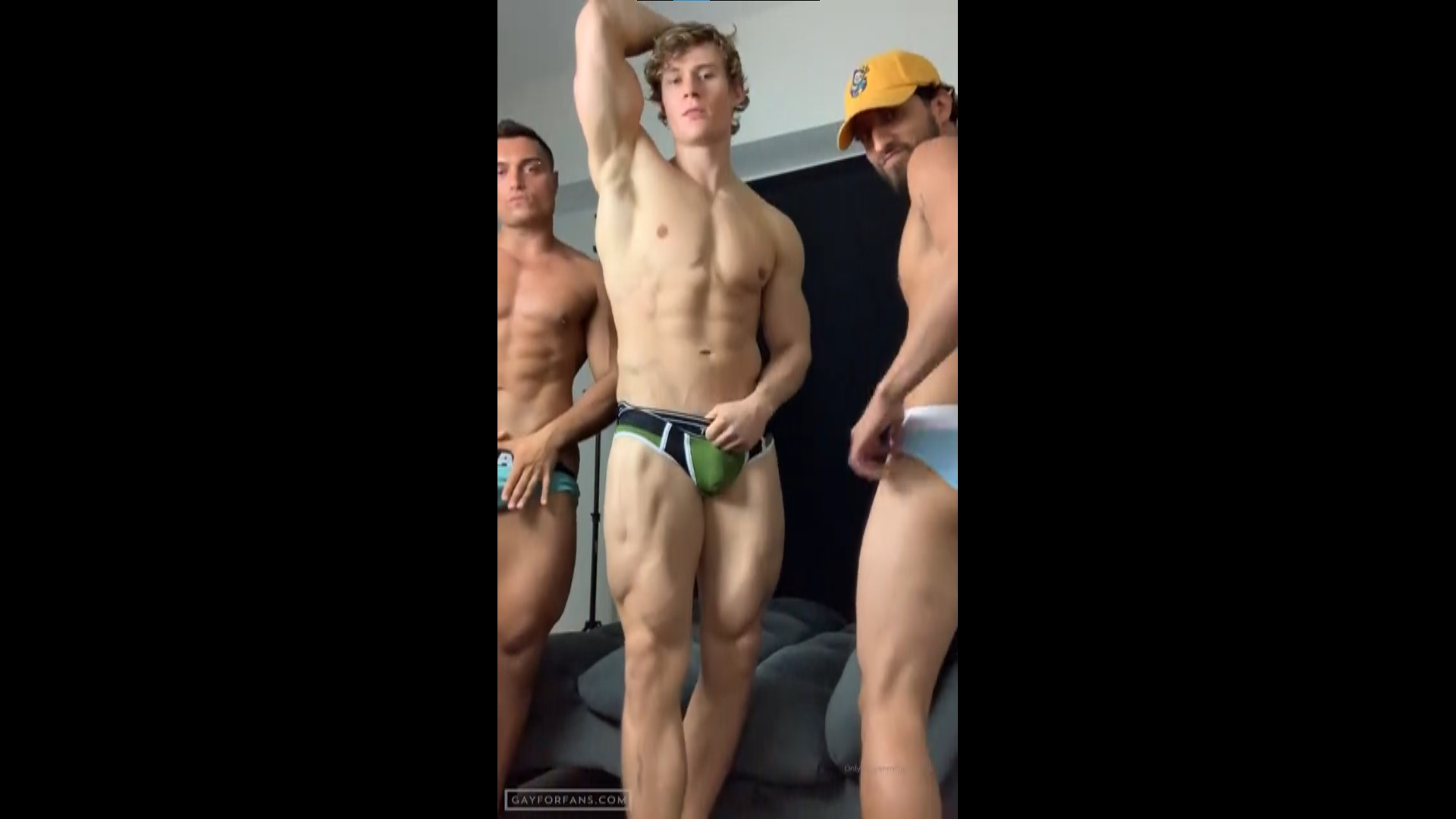 Flexing in my underwear with my mates - ShreddedC
