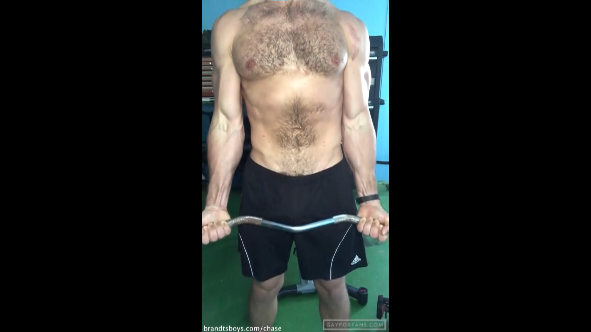 Chase Working Out And Jerking Off -  Chasexbrandt