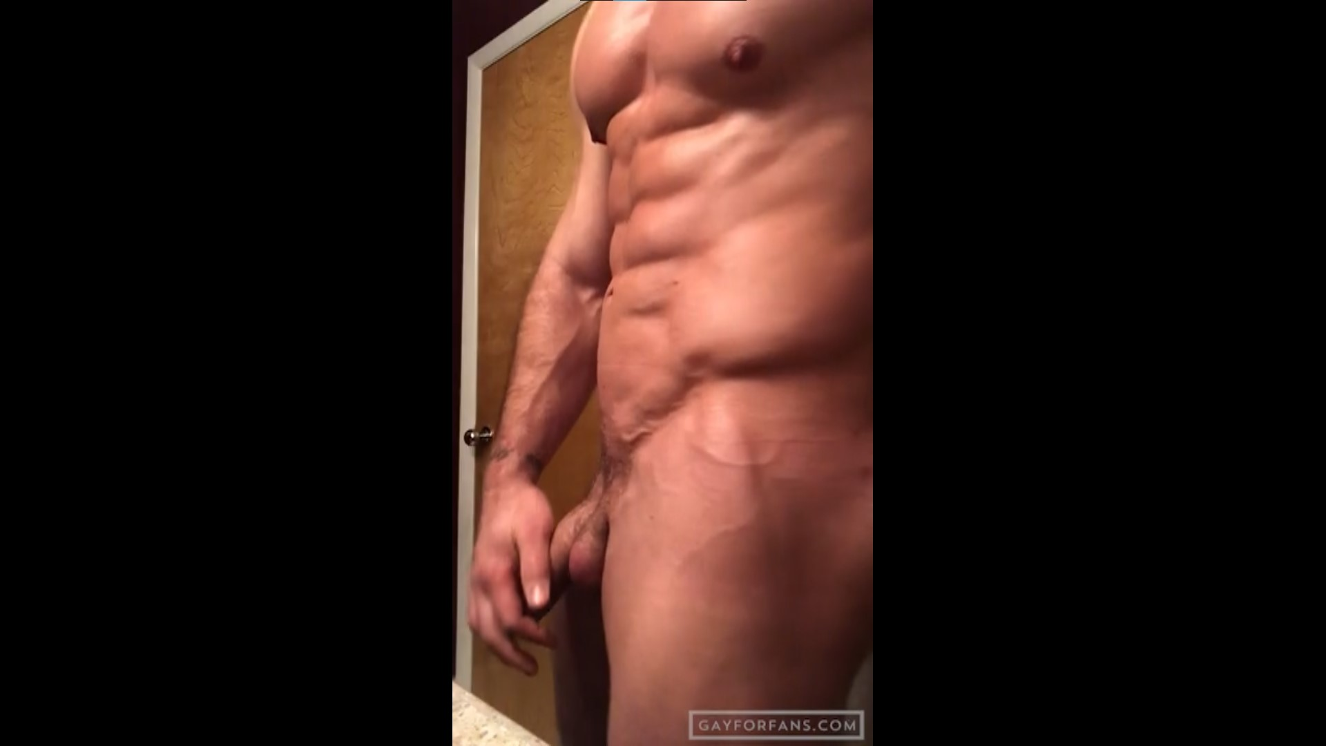 Showing off my muscles and stroking my cock - PaddyCakesUSA