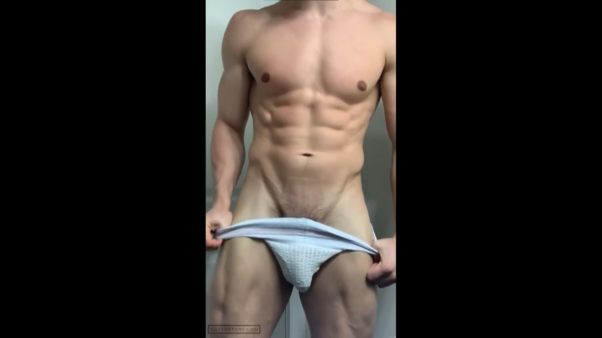 Showing off my body in a jockstrap - ShreddedC