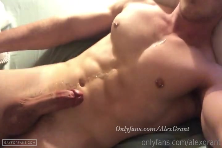 Quick jerk off over my body - Alex Grant