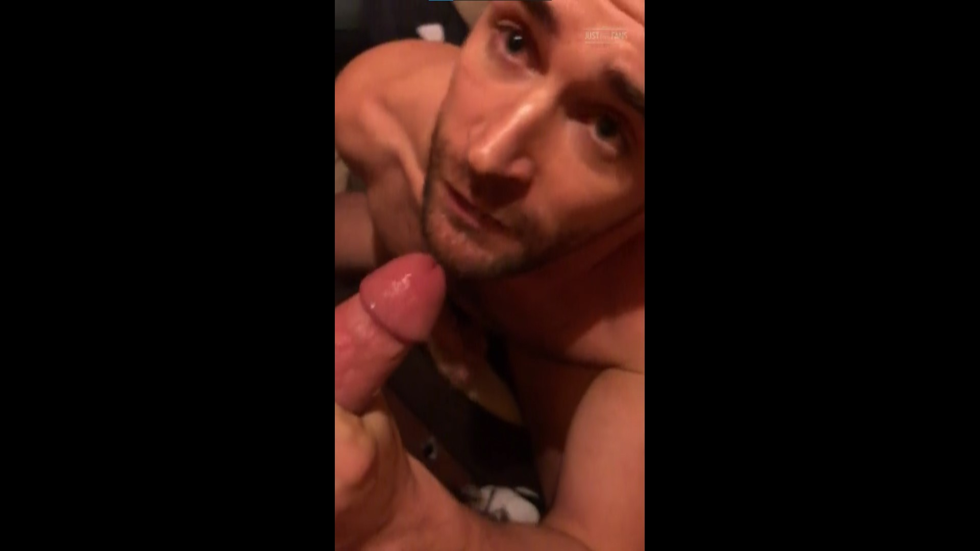 Giving a guy a blowjob and getting a mouthful of cum - Woody Fox