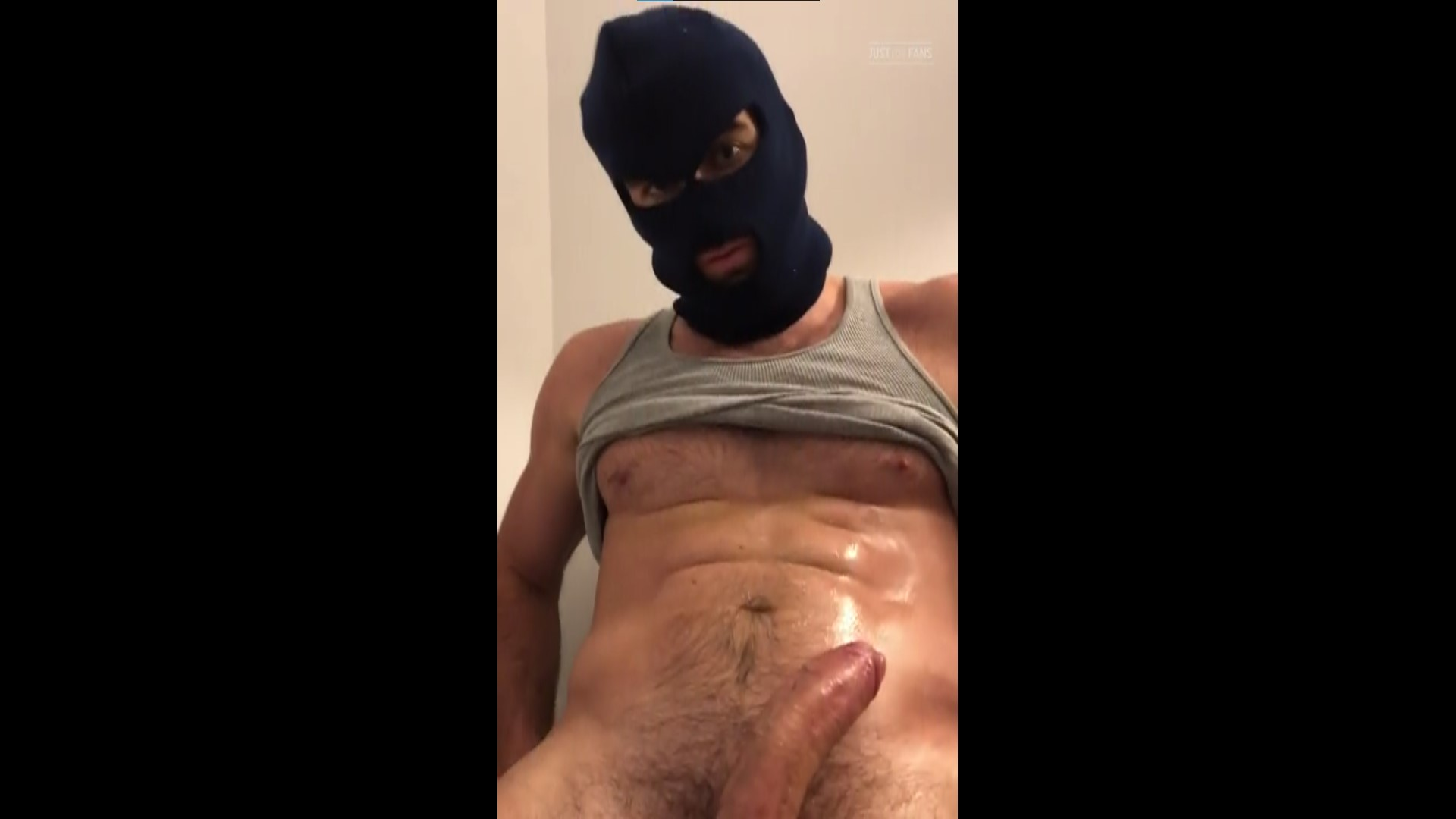 Wearing a mask while getting a handjob - Woody Fox