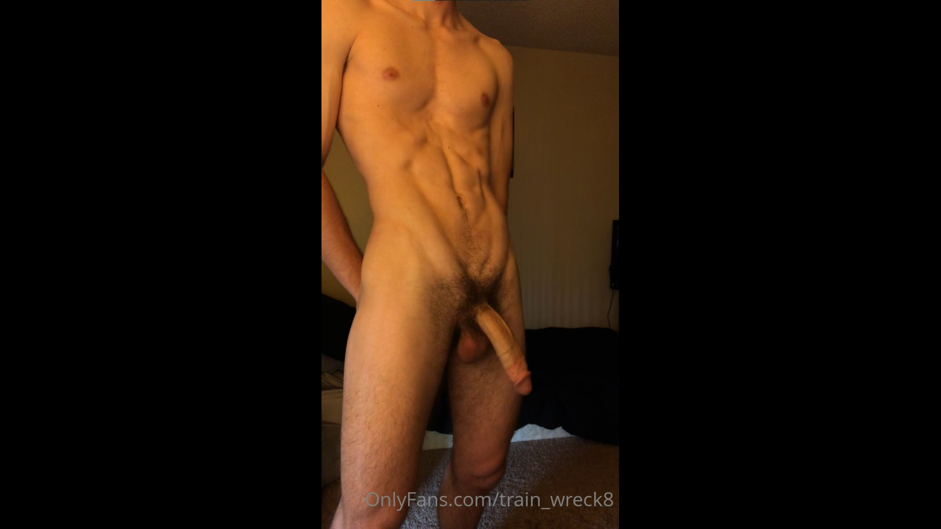 Stripping and jerking my big cock - train_wreck8