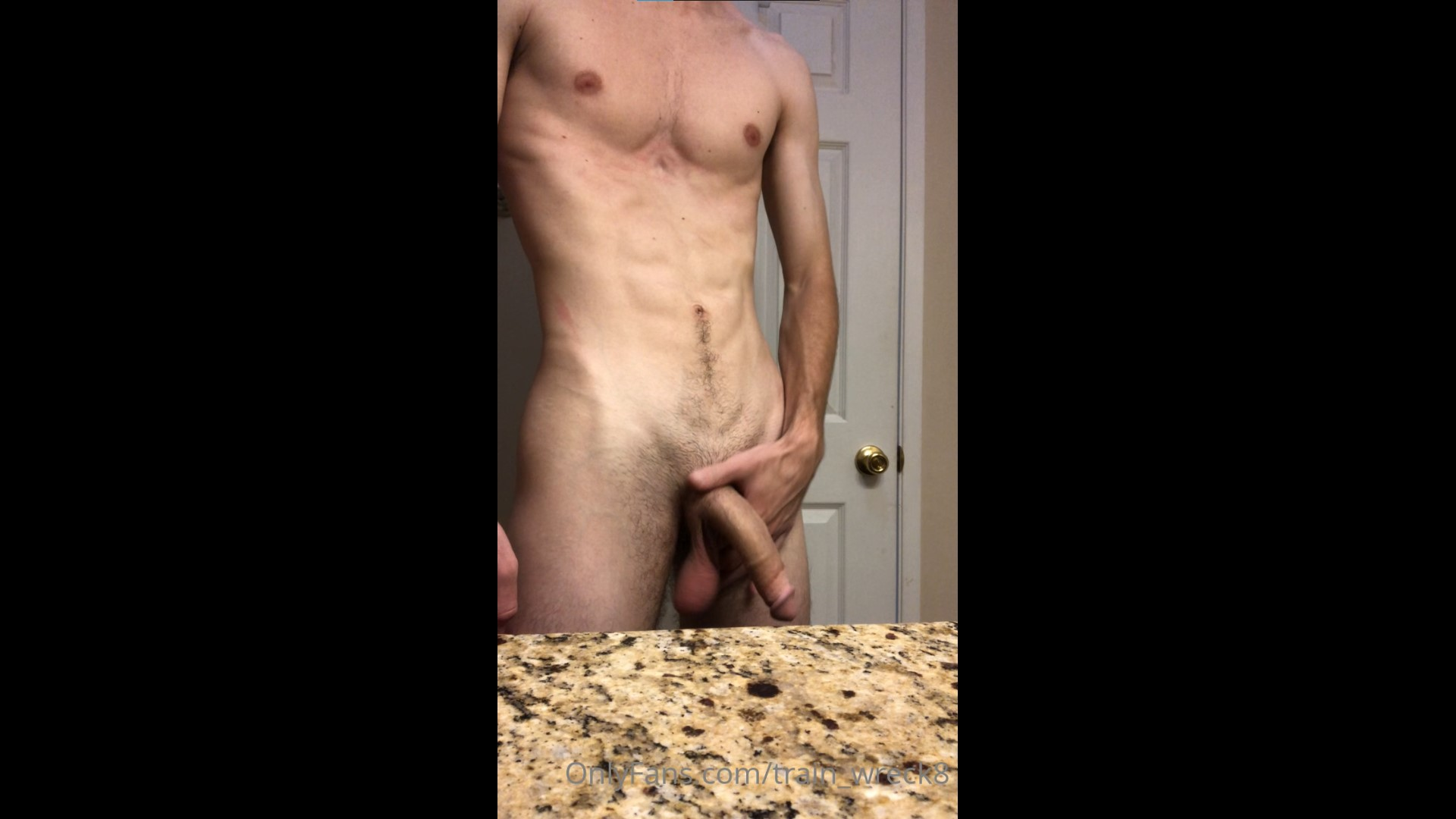 Showing off my cock and balls after a shower - train_wreck8