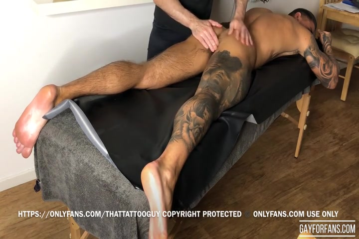 Getting a massage and having my ass played with