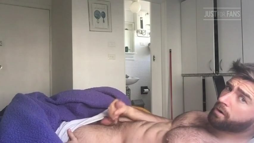 Jerking my morning wood and cumming - Woody Fox