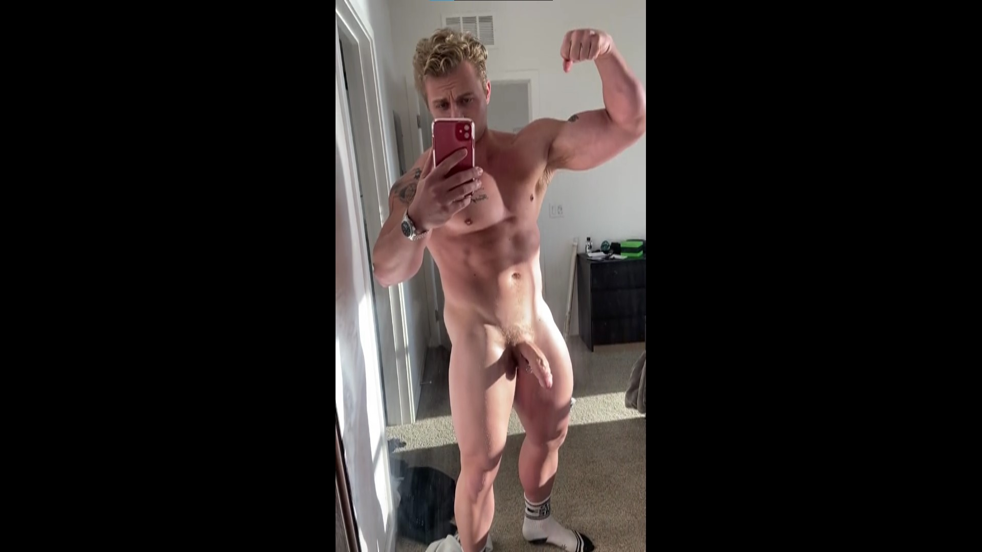 Showing off my body and hard cock - icemanjb