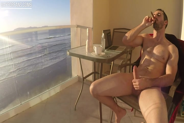 Brock Cooper fucking his sex toy and jerking off till he cums over himself - mrcooperxxx