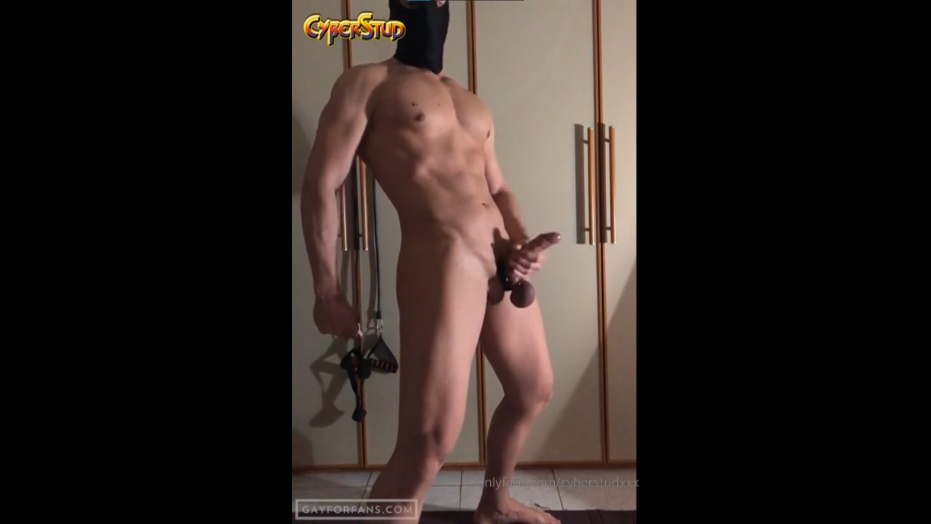 Playing with my ass and jerking off - CyberStudXXX