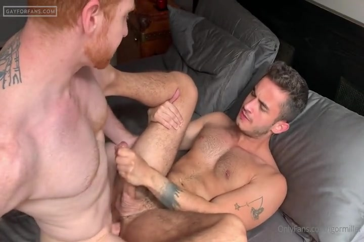 Igor Miller has a threesome with Leander and Gabriel Cross