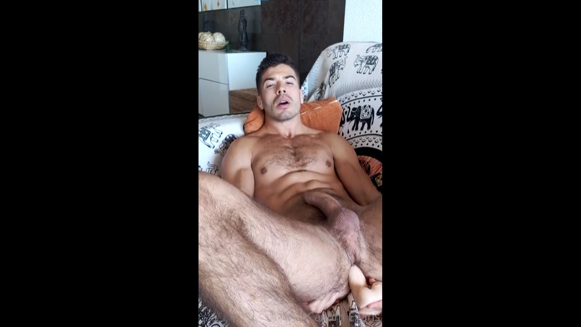 Fucking myself with a dildo and jerking off hard - Callum Evans