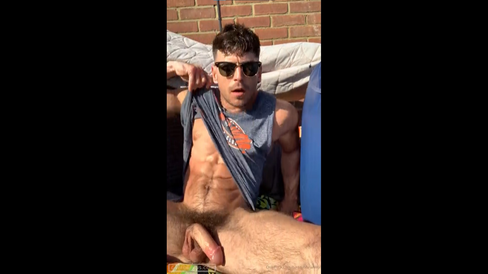 Jerking off outside and playing with my ass - Paddy O'Brian