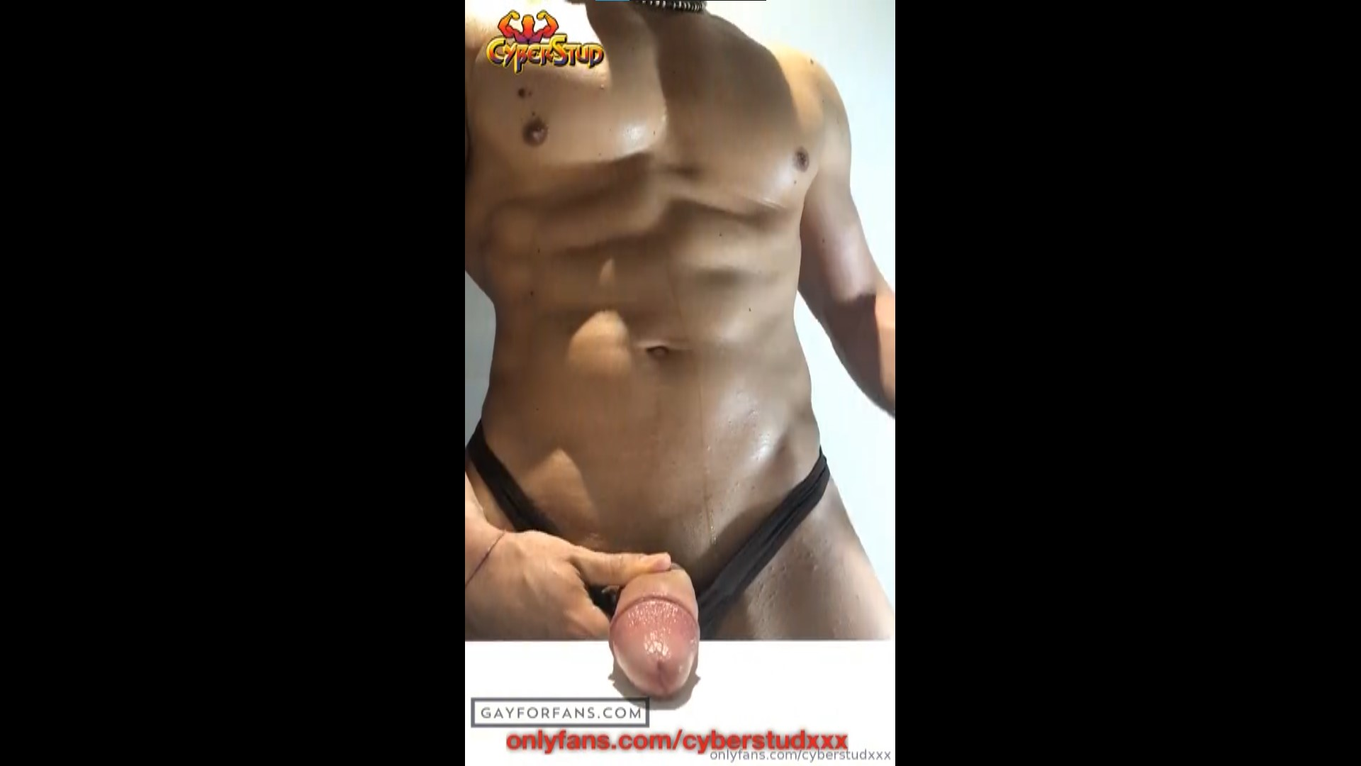 Showing off my muscles and jerking off - CyberStudXXX