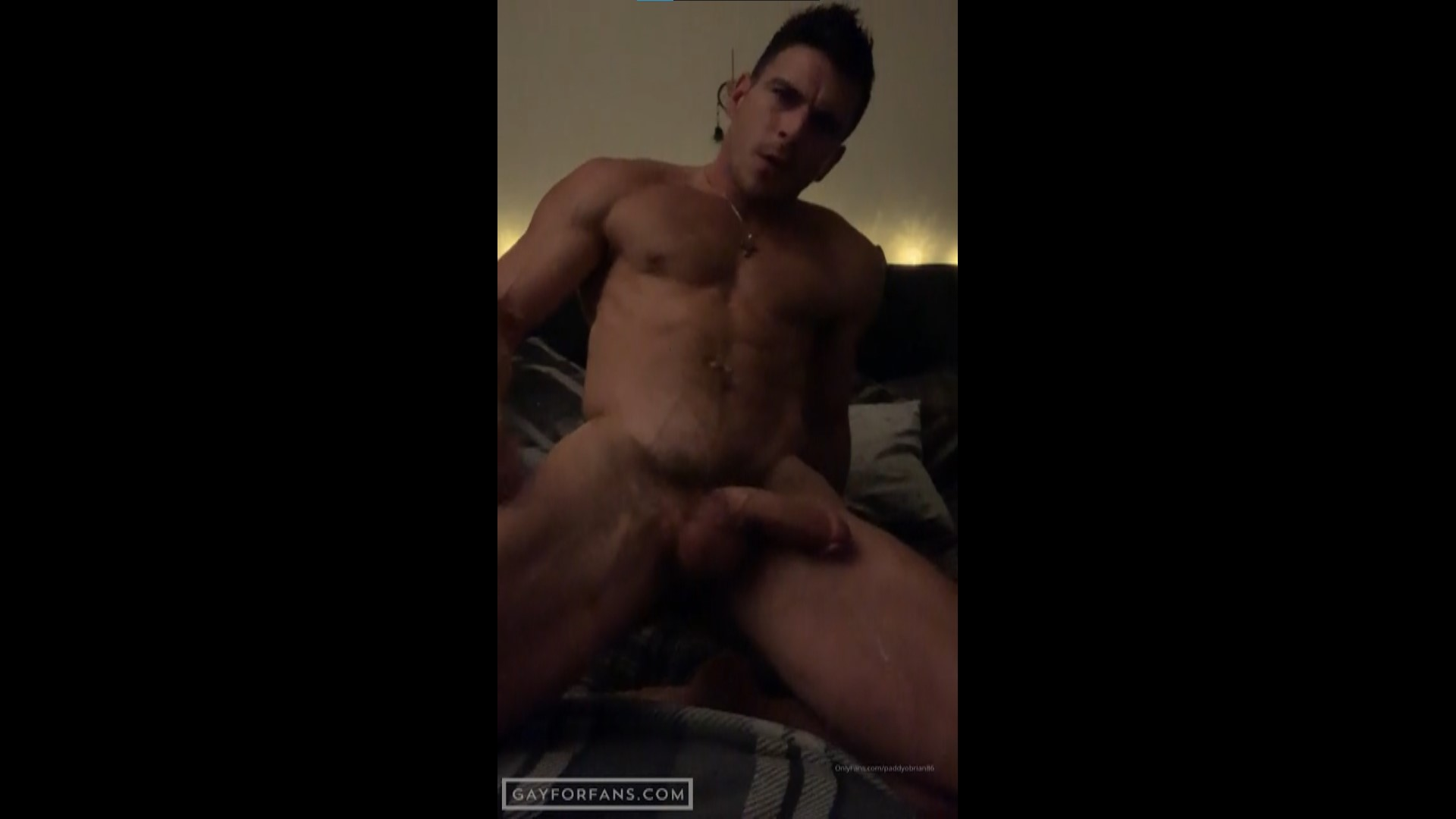 Playing with my ass and jerking off hard - Paddy O'Brian