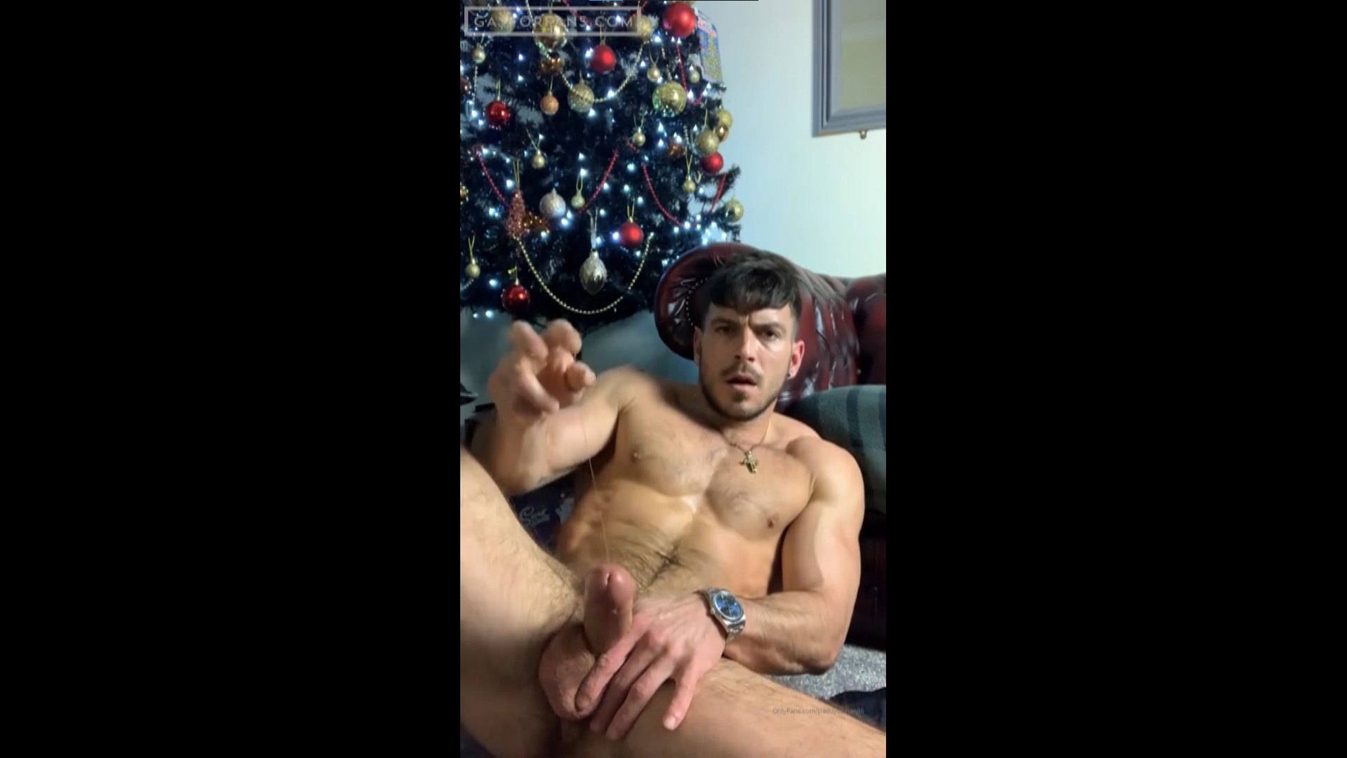 Jerking my cock and playing with my precum - Paddy O'Brian