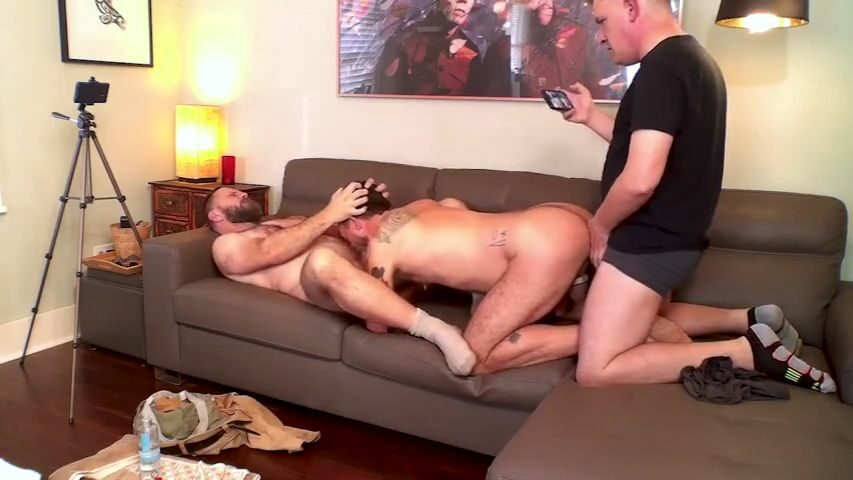 Three hairy bears having a threesome - RealMenFullBush