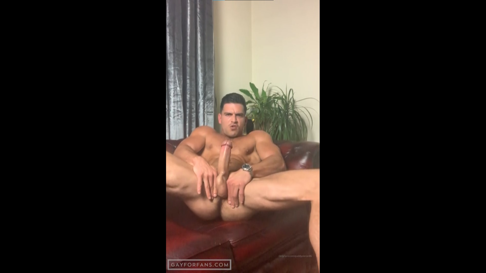 Jerking off hard on the sofa - Paddy O'Brian