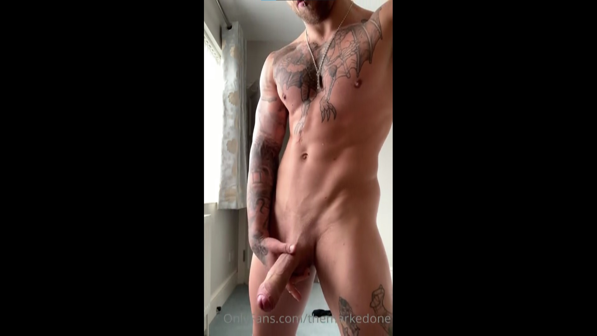 Stroking my thick cock hard and cumming - TheMarkedOne