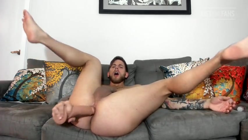 Fucking myself with a big dildo till I cum hard - Steve Rickz(hattrickz91)