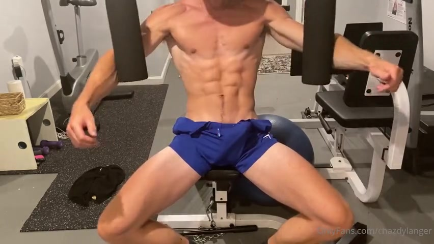 Working out with a hard cock - Chaz Dylanger