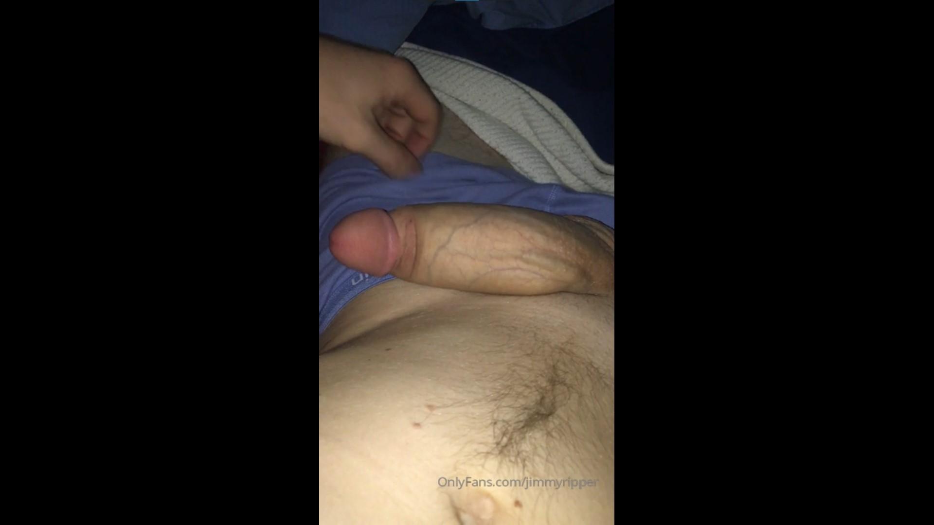 Showing off my huge floppy cock - JimmyRipper