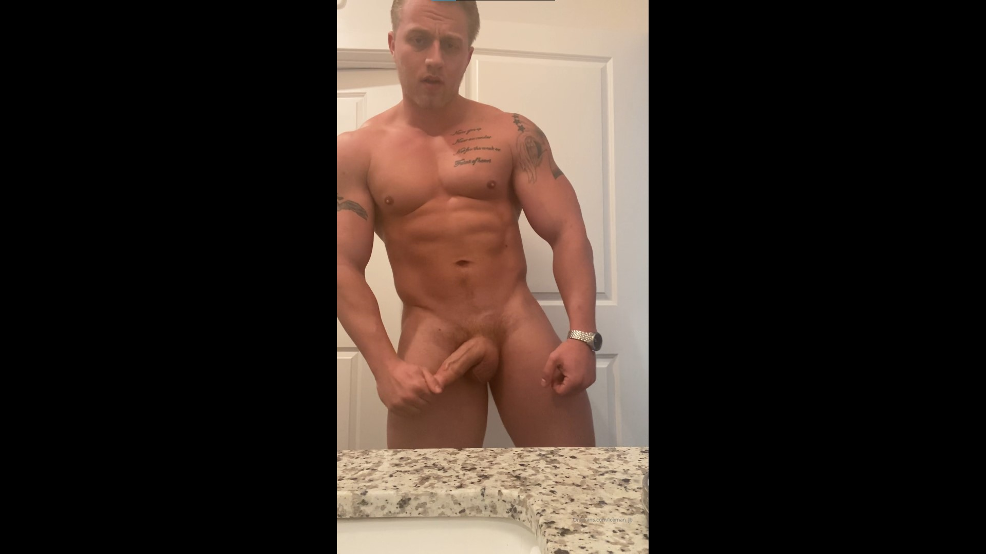 Showing off my body and cock - icemanjb