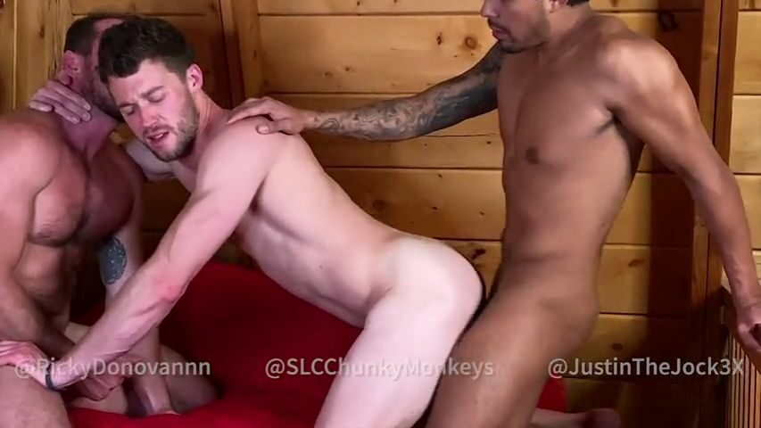 Threesome with Ricky Donovan, SLCChunkyMonkeys and JustinTheJocK3X