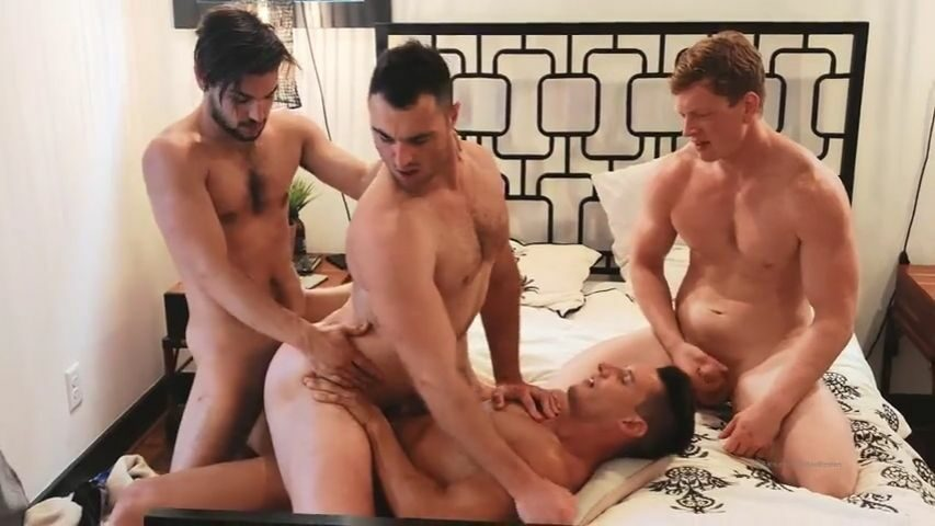 Michael Boston, Kyle Connors, Johnny Rapid and Jax Thirio have a foursome