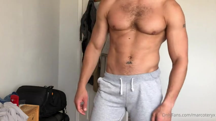 Playing with my cock after a shower - Marco D'Andrea (marcoteryx)