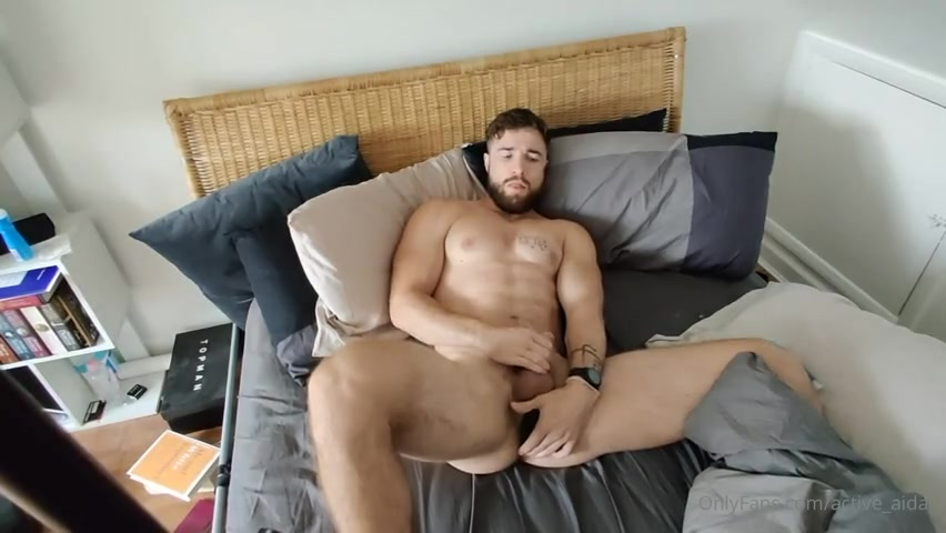 Playing with my new prostate massager - Aidan Ward