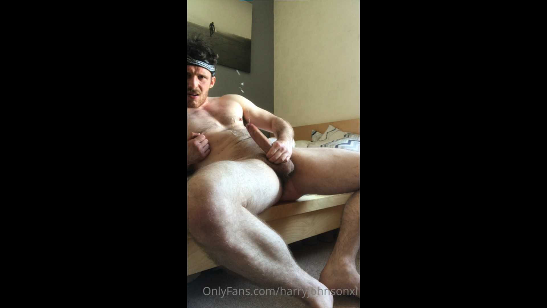 Jerking off with my sex toy and shooting a load over myself - harryjohnsonxl