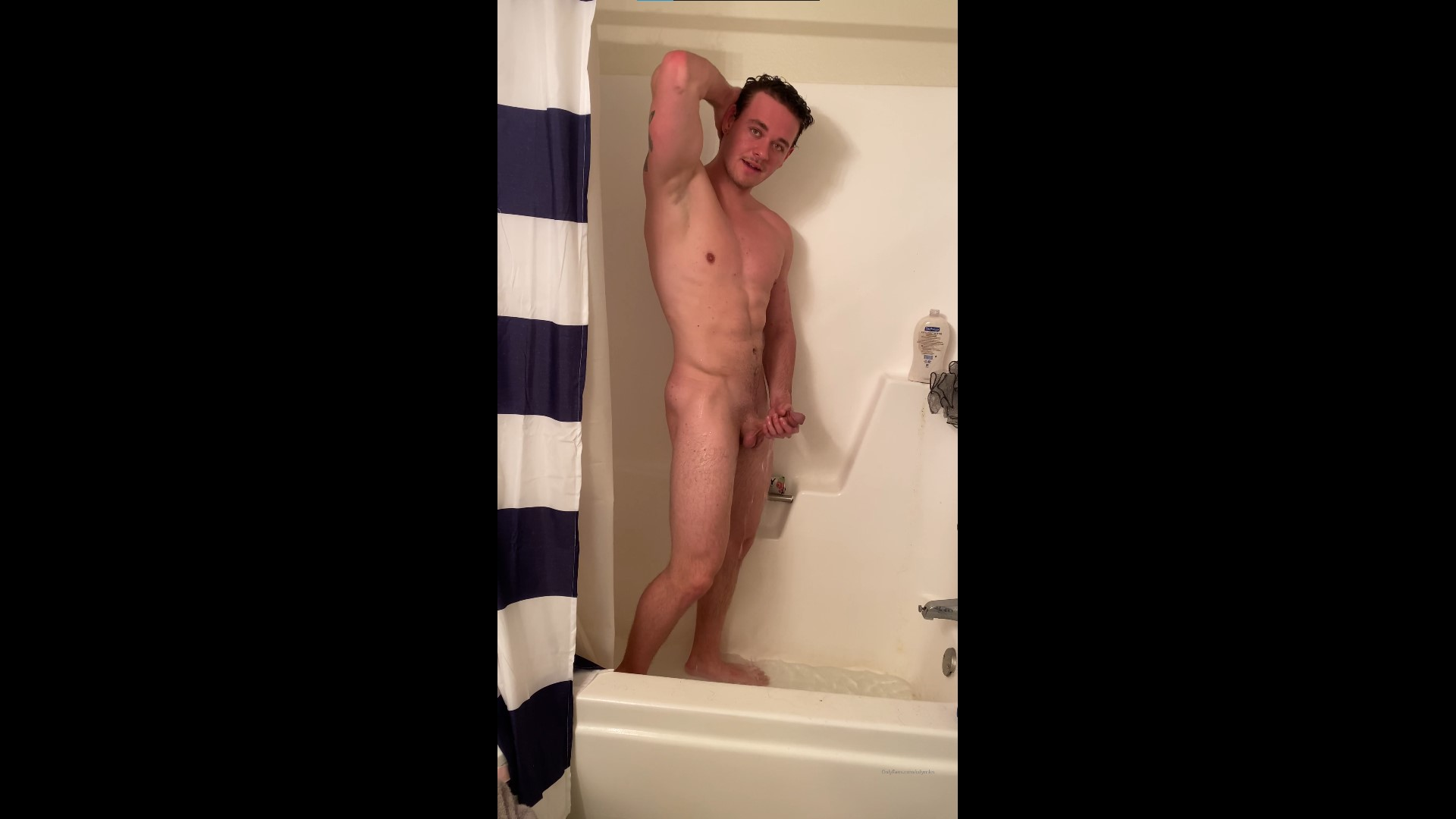 Playing with my dick in the shower - CdyRnkn