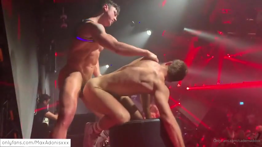 Fucking on stage in the club - Cade Maddox - Austin Wolf - Max Adonis