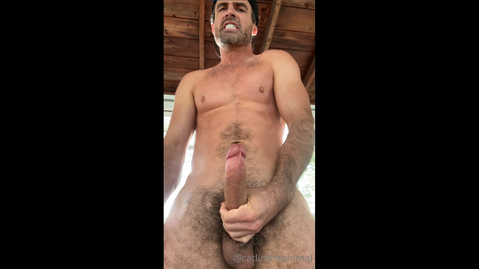 Jerking my morning wood and shooting a big load over myself - Andy Catlin (Catlintheanimal)