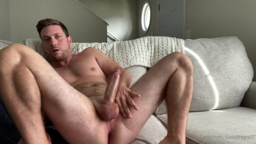 Jerking my cock and playing with my hole - David Ego (Davideego07)